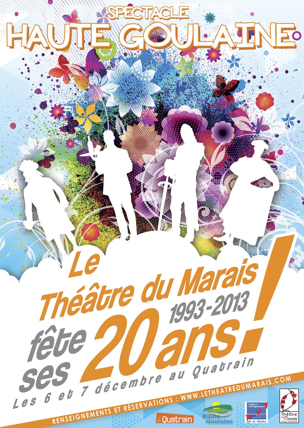 affiche 20 ans du théâtre 2013