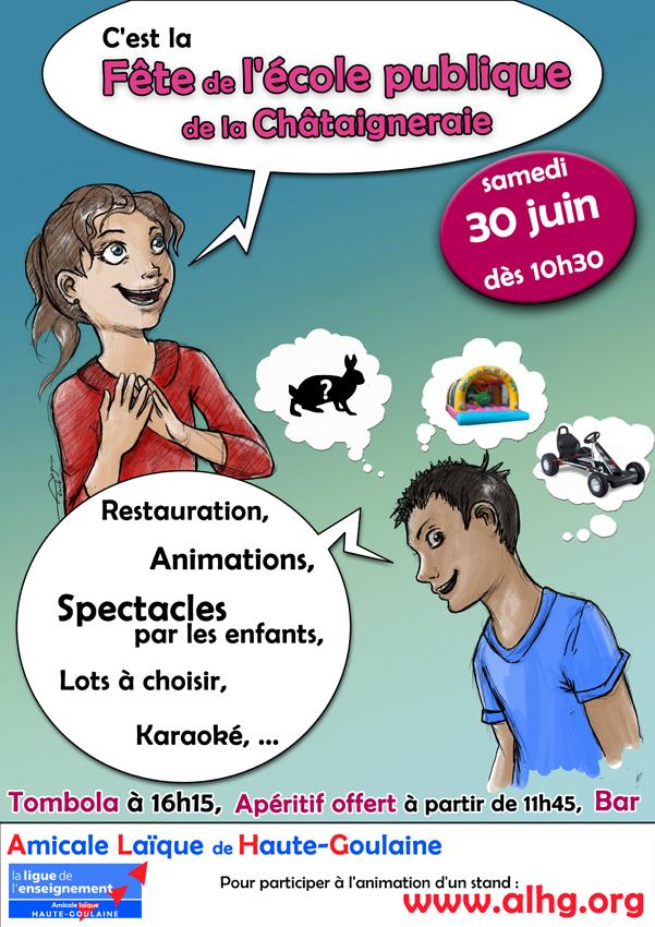 affiche Fête de l'école 2012