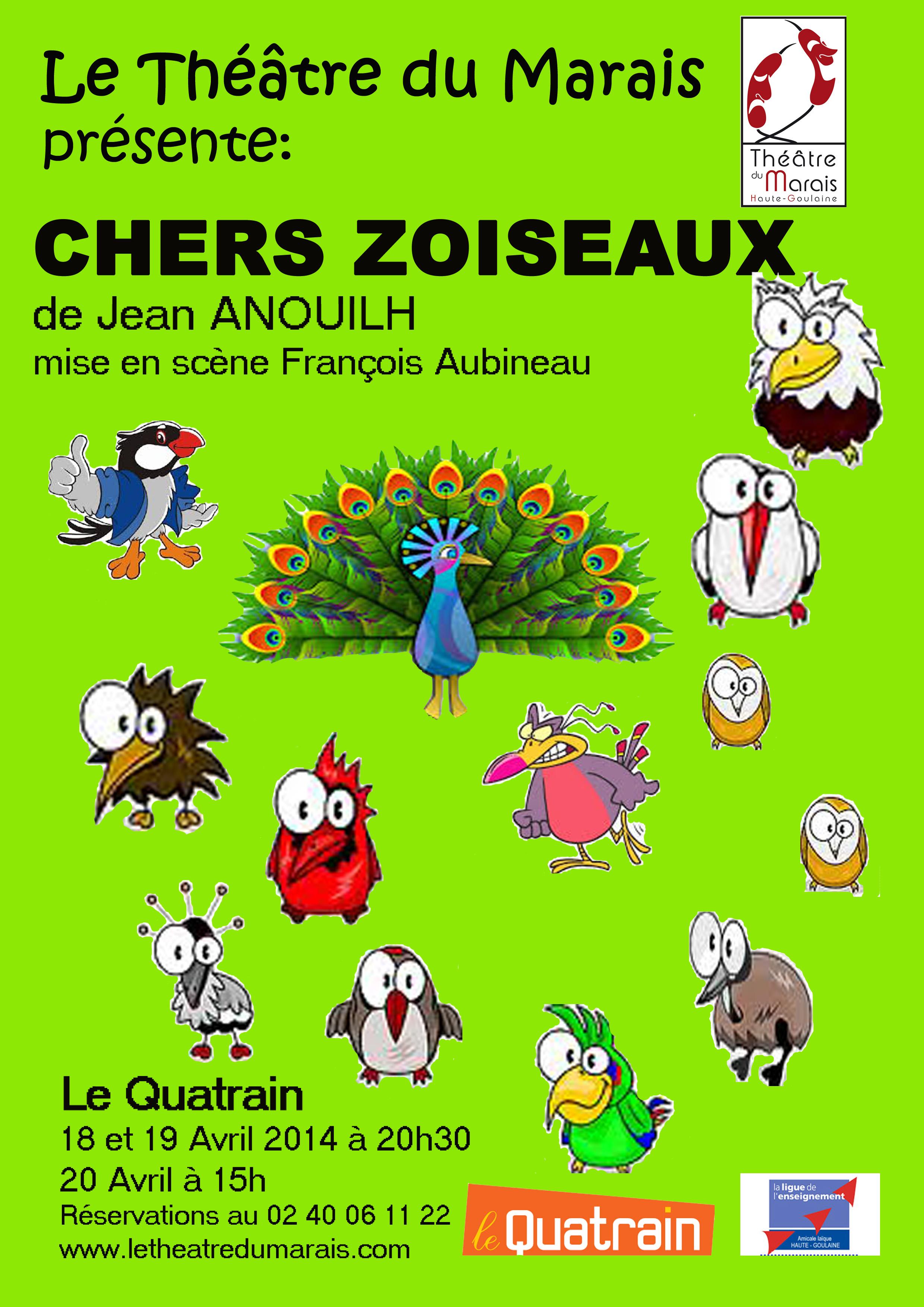 Affiche du théâtre du marais 2014