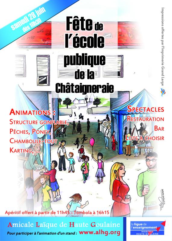 affiche de la fête de l'école 2014