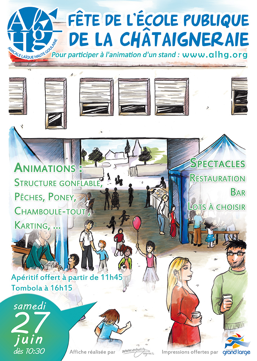affiche de l'école 2015